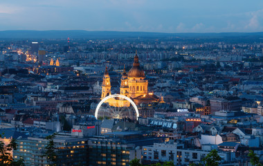 Wall Mural - Budapest city view in Hungary at summer in twilight