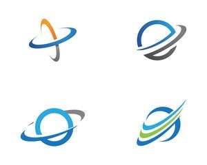 Planet globe icon vector design