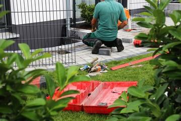 Garten- und Landschaftsbau, Neuanlage eines Gartens