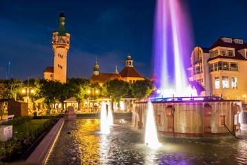 Square and promenade architcture landmark in Sopot