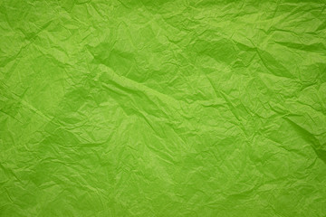 crumpled and wrinled green paper
