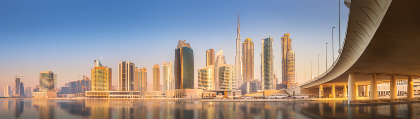 Stores photo Dubai Panoramic view of Dubai Business bay, UAE