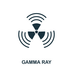 Gamma Ray vector icon symbol. Creative sign from biotechnology icons collection. Filled flat Gamma Ray icon for computer and mobile