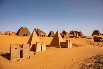 The amazing pyramids of Meroe, north of Khartoum, Sudan