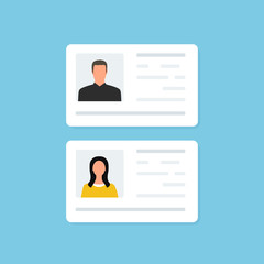 ID Card and Identification card. Business. Identity. Vector illustraation.