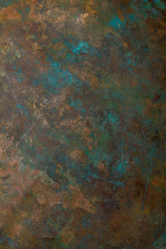 Background image of old copper vessel surface texture