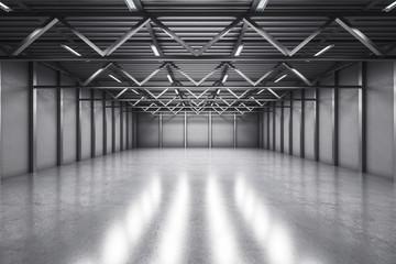 Abstract warehouse interior