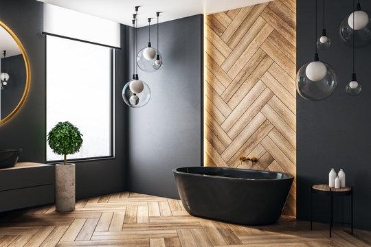 Luxury bathroom with copyspace