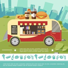 Flat Street Food Colorful Template