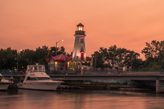 Sunset over Port Credit, Mississauga, ON, Canada
