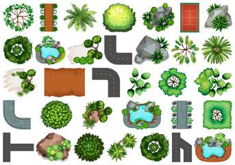 Set of  garden element