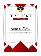 Modern certificate of appreciation award template. Template diploma border for use in design. Eps10 - vector.