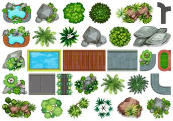Set of garden for decoration