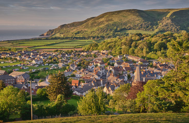 View of Porlock, Exmoor National Park, Somerset Fototapete
