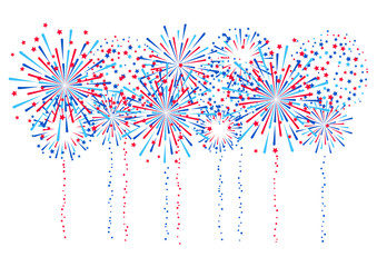 Fireworks border for Independence day design
