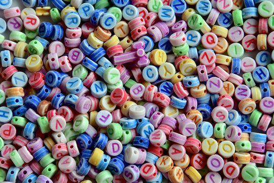 Hundreds if alphabet beads