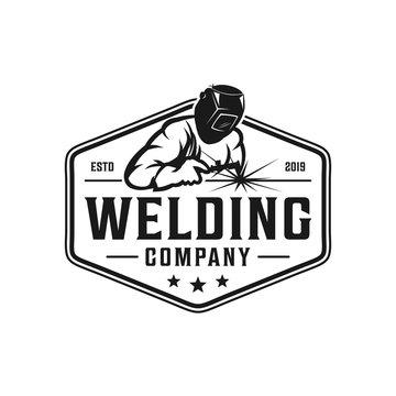 Welding company logo design