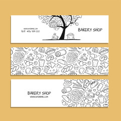 Banners design, idea for bakery company