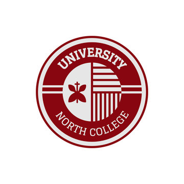University and college school crests logo, badges, emblems, signs and symbols set, vector illustration. Education and learning
