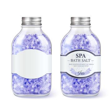 SPA bath salt glass bottle