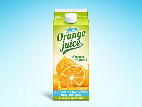 Orange juice paper carton
