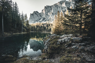 A beautiful lake called Green Lake in Austria in summer Wall mural