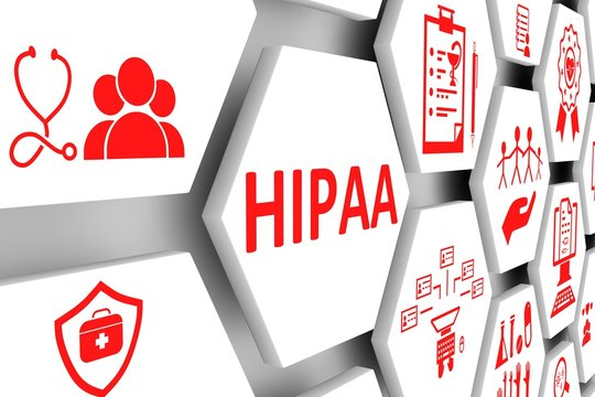 HIPAA concept cell background 3d illustration