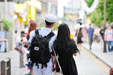 South Korean Navy Soldier on vacation