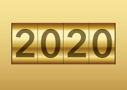 2020年 機械式カウンター表示