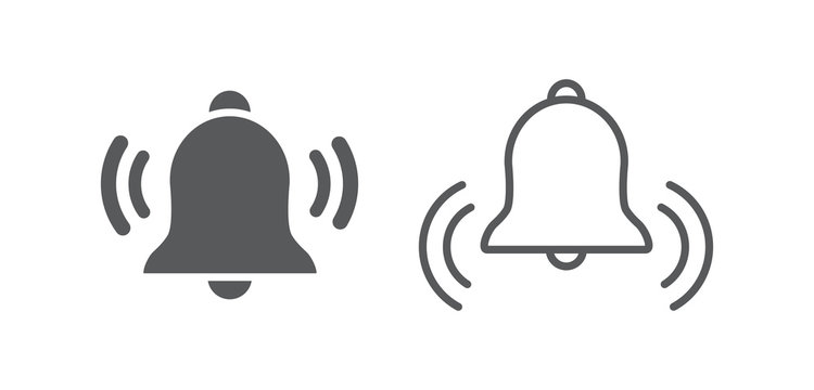 Bell Icon isolated on white background