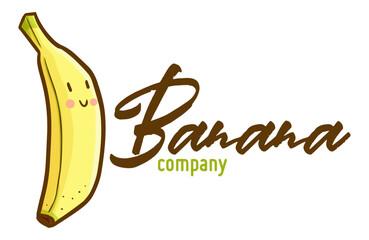 Cute and funny logo for Banana company