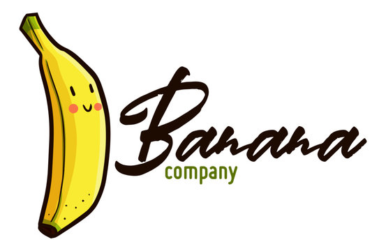 Cute and funny logo for Banana company