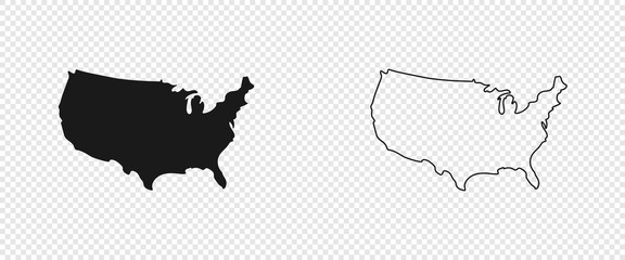 USA map. American map. United States of America map in flat and lines design Fototapete