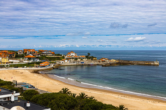Landscape of Comillas, beautiful town in Cantabria, Spain
