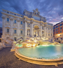 Wall Mural - Trevi Fountain - the largest and most famous of the fountains of Rome. Italy.