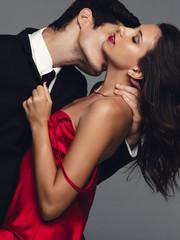 Couple enjoying a sensual moment