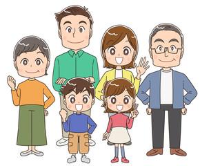 3世代家族 ファミリー
