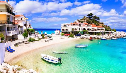 Wall Mural - Samos island - picturesque traditional fishing village Kokkari. Greece