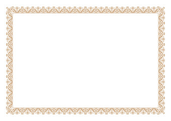 Gold Certificate of Appreciation Border
