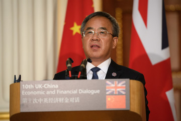 Britain's Chancellor Hammond Hosts China's Vice-Premier Hu Chunhua in London