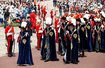 The Queen and members of the Royal Family host Garter Day at Windsor Castle