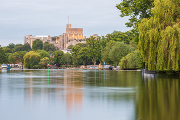 Windsor Castle overlooking the River Thames, England Wall mural