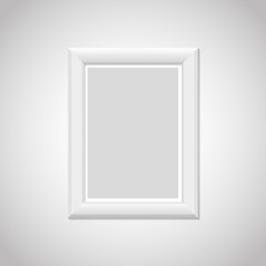 Realistic picture frame with shadow. Vector illustration