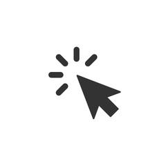 Click icon in simple design. Vector illustration