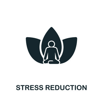 Stress Reduction  icon symbol. Creative sign from mindfulness icons collection. Filled flat Stress Reduction icon for computer and mobile