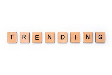 The word TRENDING