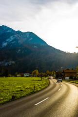 Fototapete - Alpine road in Switzerland