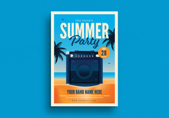 Summer Beach Party Flyer Layout