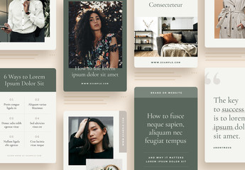 Minimal Brand Social Media Graphics Layouts for Pinterest