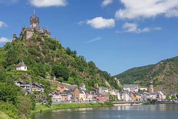 Cochem an der Mosel in Rheinland-Pfalz, Deutschland mit der Reichsburg Cochem